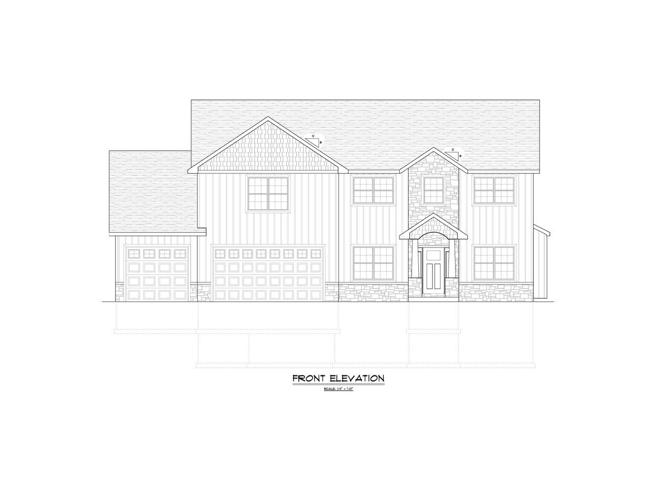 Front Elevation Sheets : Front elevation page jacobs design homes